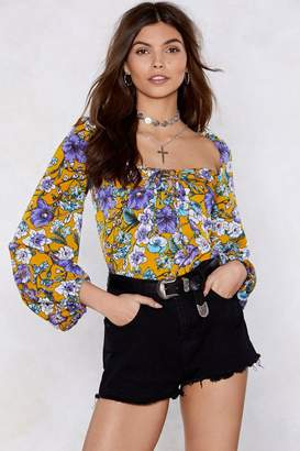 Nasty Gal Grow With Your Heart Floral Top