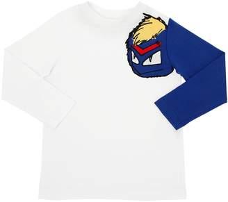 Fendi Cotton Jersey Long Sleeve T-Shirt