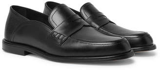 Loewe Collapsible-Heel Leather Penny Loafers