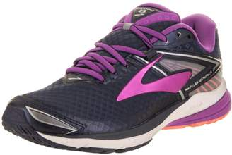 Brooks Women's Ravenna 8 Peacoat/Purple Cactus Flowers/Fusion Coral Running Shoe 8 Women US