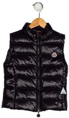 Moncler Boys' Down Zip-Up Vest