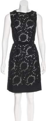 Prada Guipure Lace Sleeveless Dress