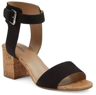 Merona Women's Talia Quarter Strap Cork Heel Sandals $29.99 thestylecure.com