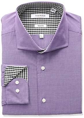 Isaac Mizrahi Men's Slim Fit End Cut Away Collar Dress Shirt