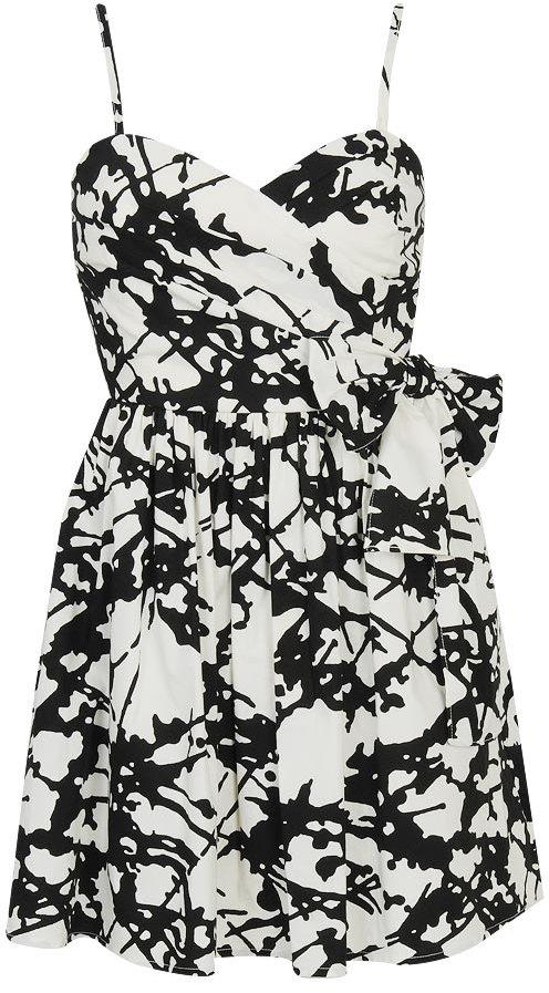 Ink Blot Print Dress
