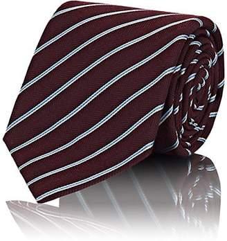 Kiton Men's Striped Wool-Silk Necktie - Red