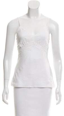 Miguelina Lace-Trimmed Sleeveless Top