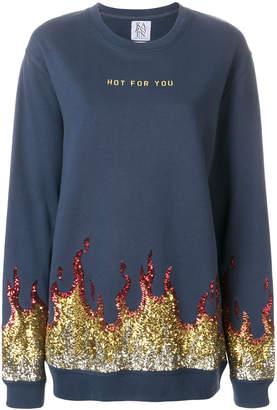 Zoe Karssen hot for you sequinned sweatshirt