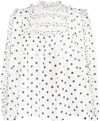 Ulla Johnson polka dot blouse