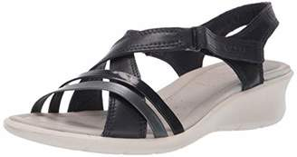 Ecco Women's Women's Felicia Wedge Sandal Night Sky/Black
