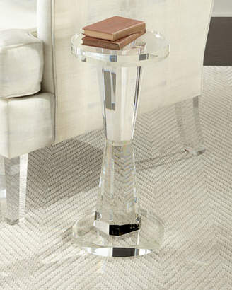 John-Richard Collection Duchess Cylinder Crystal Side Table