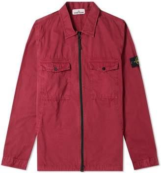 Stone Island Garment Dyed Zip Shirt