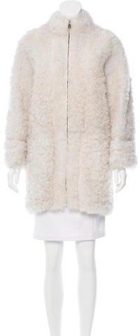 Fendi Shearling Cocoon Coat