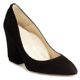 Karen Millen Women's Almond Toe Stud-Embellished Leather High-Heel Pumps