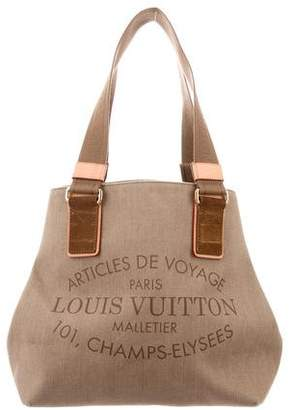 Pre Owned At Therealreal Louis Vuitton Denim Beach Cabas Tote