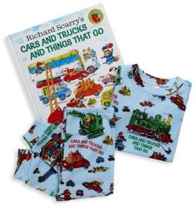 Books To Bed Little Boy's& Boy's Cars and Trucks and Things That Run Two-Piece Pajama and Book Set