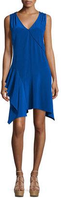 Derek Lam 10 Crosby Sleeveless Asymmetric Draped Tank Dress, Cobalt $495 thestylecure.com