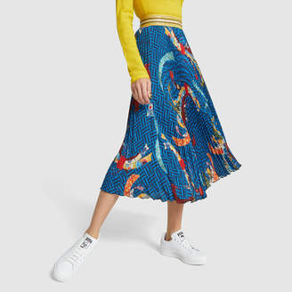 90614ac510 Stella Jean Gonna Printed Pleated Skirt