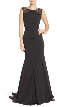 La Femme Peplum Mermaid Gown $479 thestylecure.com