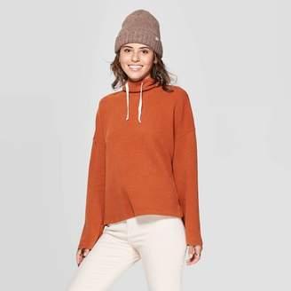 Universal Thread Women's Long Sleeve Mock Turtleneck Waffle Sweatshirt - Universal ThreadTM