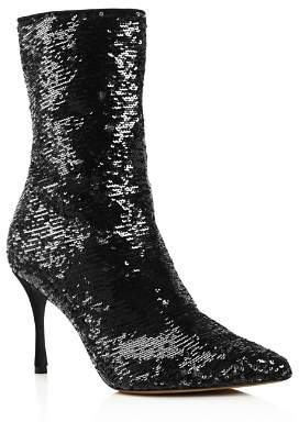 Tabitha Simmons Women's Wendie Pointed Toe Sequin Booties
