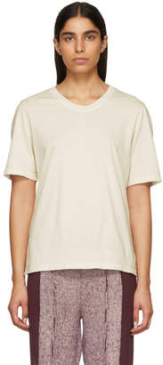 Raquel Allegra Off-White Sueded Baby Jersey T-Shirt