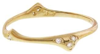 N+A New York Organic Diamond Stacking Ring