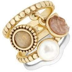 Lucky Brand Nouveau Americana Faux Pearl Stack Ring