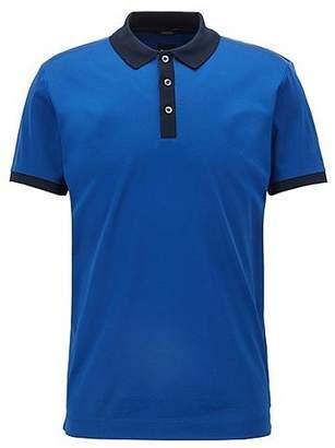 HUGO BOSS Slim-fit polo shirt in mercerised cotton