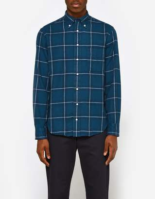 Gitman Brothers Lakes Hunting Plaid Shirt in Blue