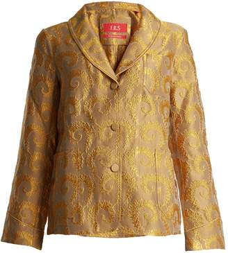 F.R.S - FOR RESTLESS SLEEPERS Arabesque shawl-lapel brocade jacket