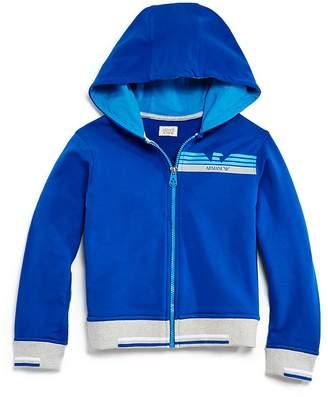 Armani Junior Boys' Zip-Up Hoodie - Little Kid, Big Kid