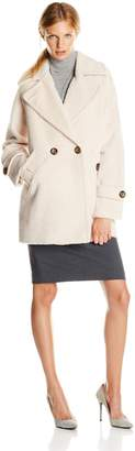 Trina Turk Women's Nancy Chic Wool Cocoon Coat