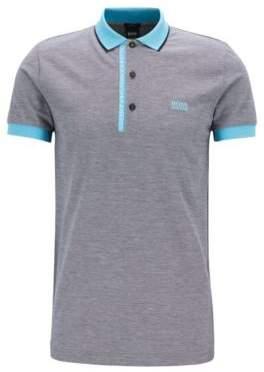 BOSS Hugo Slim-fit polo shirt in Pima-cotton Oxford pique L Black