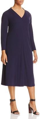 Marina Rinaldi Orlo V-Neck Jersey Midi Dress $475 thestylecure.com