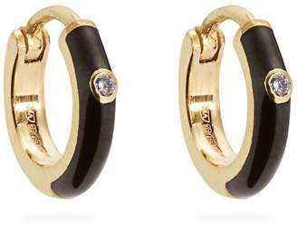 Marc Alary Diamond, enamel & yellow-gold earrings