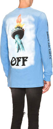 Off-White Off White Liberty Long Sleeve Tee