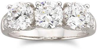 JCPenney FINE JEWELRY DiamonArt Cubic Zirconia 3-Stone Ring