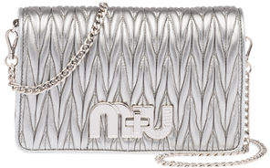 Miu Miu Matellasse Leather Shoulder Bag