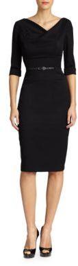 Black Halo Jackie O. Three-Quarter Sleeve Dress $345 thestylecure.com
