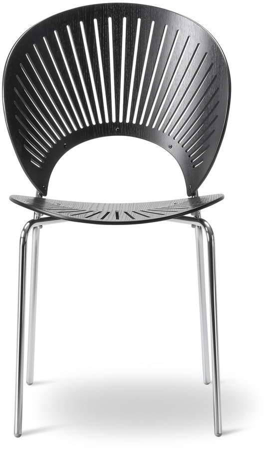 Fredericia Furniture A/S Fredericia - Trinidad Stuhl, Schwarz / chrom