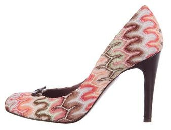 Missoni Bow-Accented Patterned Pumps