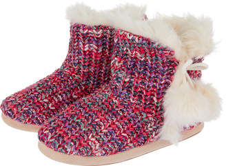 Accessorize Knitted Spacedye Slipper Boots