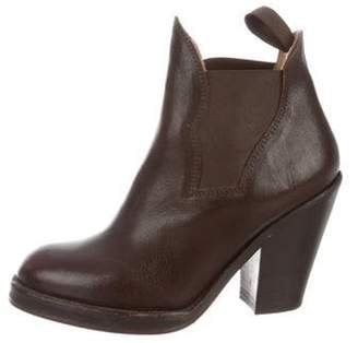 Acne Studios Leather Ankle Boots Brown Leather Ankle Boots