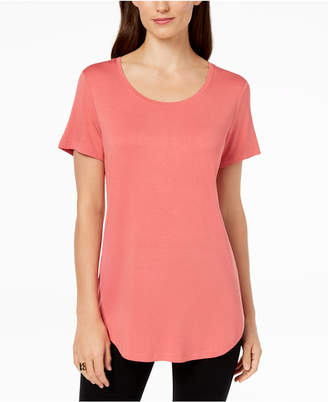 JM Collection Scoop-Neck Top