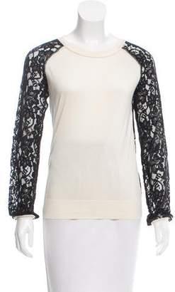 Diane von Furstenberg Silk Lace Top