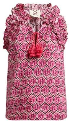 007c644e671c16 Figue Fabiana Geometric Print Cotton Top - Womens - Pink