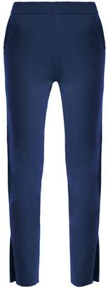 Allude Slit Cuff Cashmere Trousers - Womens - Blue