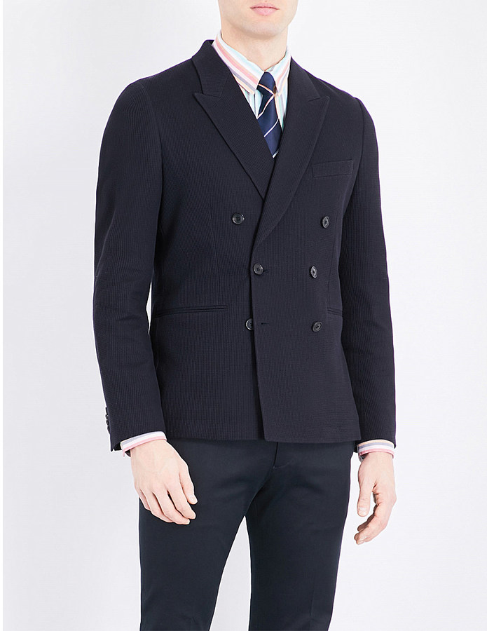 Paul SmithPaul Smith Double-breasted cotton blazer