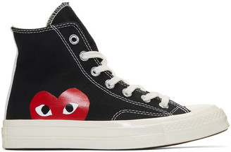 Comme des Garçons Play Black Converse Edition Chuck Taylor All-Star '70 High-Top Sneakers $125 thestylecure.com